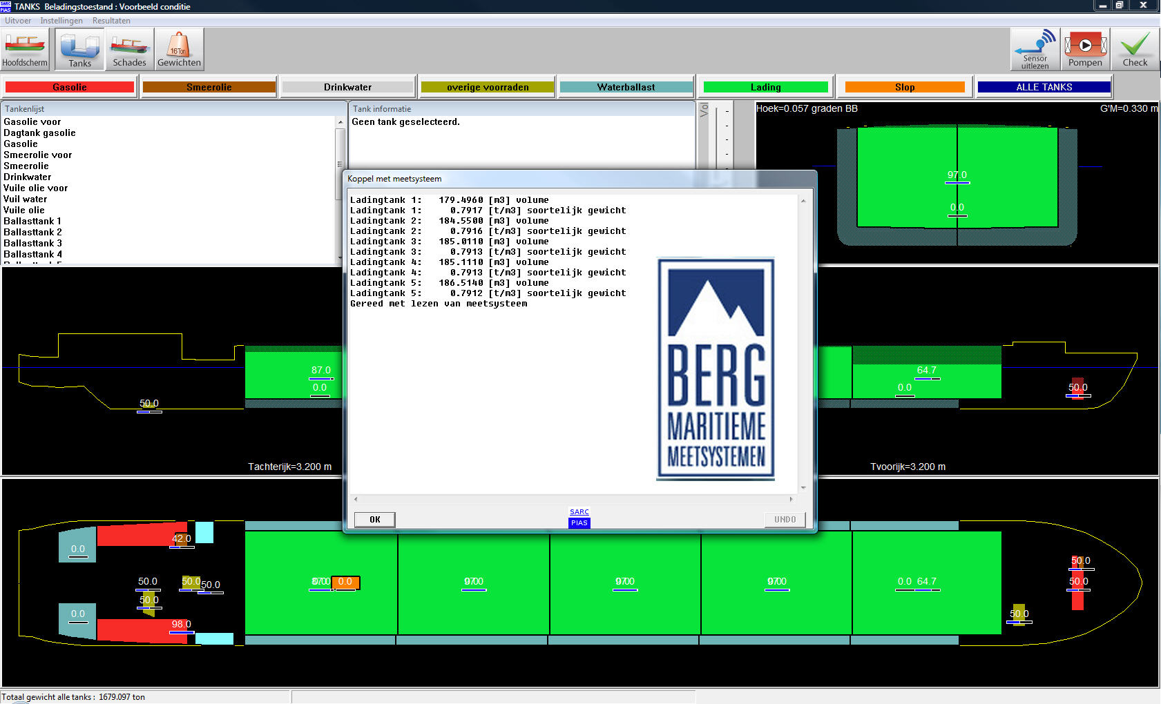 interface with BERG Maritieme Meetsystemen